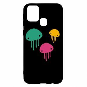 Etui na Samsung M31 Multi-colored jellyfishes