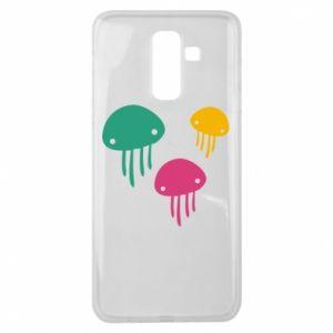 Etui na Samsung J8 2018 Multi-colored jellyfishes