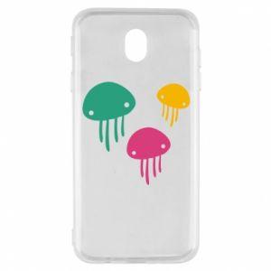 Etui na Samsung J7 2017 Multi-colored jellyfishes