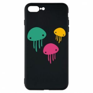 Phone case for iPhone 8 Plus Multi-colored jellyfishes - PrintSalon