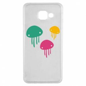 Etui na Samsung A3 2016 Multi-colored jellyfishes
