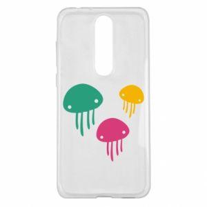 Etui na Nokia 5.1 Plus Multi-colored jellyfishes