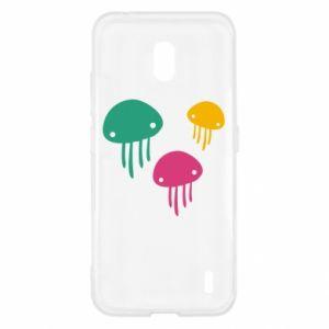 Etui na Nokia 2.2 Multi-colored jellyfishes
