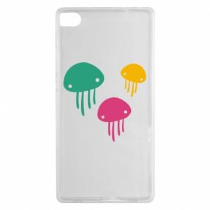 Etui na Huawei P8 Multi-colored jellyfishes