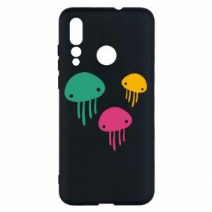 Etui na Huawei Nova 4 Multi-colored jellyfishes