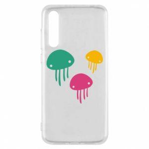 Etui na Huawei P20 Pro Multi-colored jellyfishes