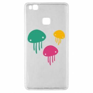 Etui na Huawei P9 Lite Multi-colored jellyfishes