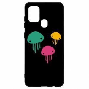 Etui na Samsung A21s Multi-colored jellyfishes