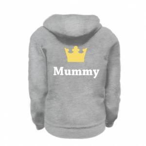 Kid's zipped hoodie % print% Mummy