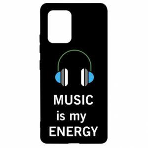 Etui na Samsung S10 Lite Music is my energy