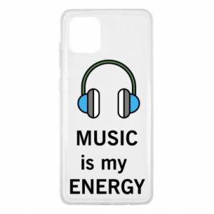 Etui na Samsung Note 10 Lite Music is my energy