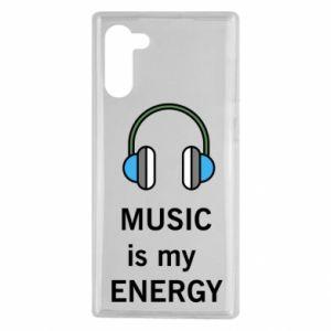 Etui na Samsung Note 10 Music is my energy