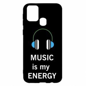 Etui na Samsung M31 Music is my energy