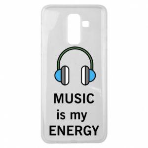 Etui na Samsung J8 2018 Music is my energy