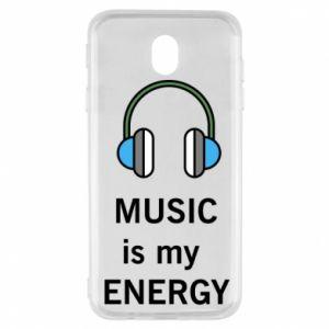 Etui na Samsung J7 2017 Music is my energy