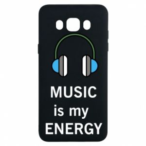 Etui na Samsung J7 2016 Music is my energy