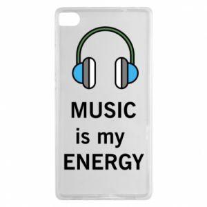 Etui na Huawei P8 Music is my energy