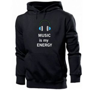 Męska bluza z kapturem Music is my energy