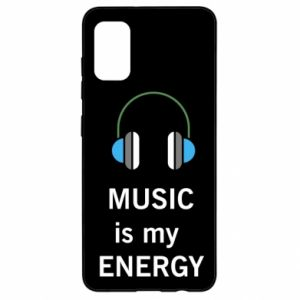 Etui na Samsung A41 Music is my energy