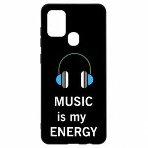 Etui na Samsung A21s Music is my energy