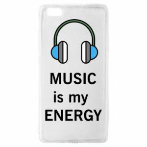 Etui na Huawei P 8 Lite Music is my energy