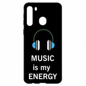 Etui na Samsung A21 Music is my energy