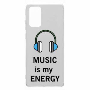 Etui na Samsung Note 20 Music is my energy