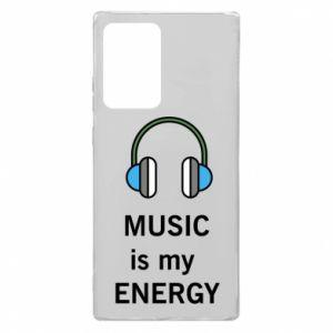 Etui na Samsung Note 20 Ultra Music is my energy