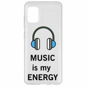 Etui na Samsung A31 Music is my energy