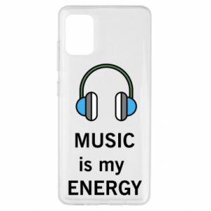 Etui na Samsung A51 Music is my energy