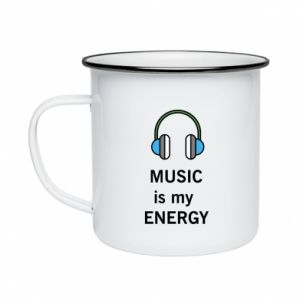 Enameled mug Music is my energy