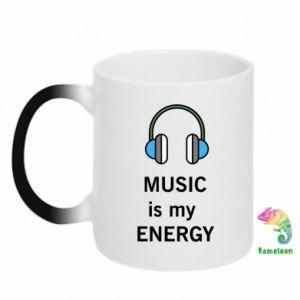 Kubek-kameleon Music is my energy