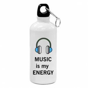 Bidon turystyczny Music is my energy