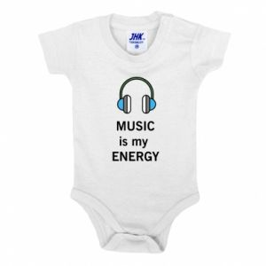 Baby bodysuit Music is my energy