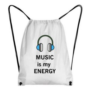 Backpack-bag Music is my energy