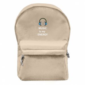 Backpack with front pocket Music is my energy
