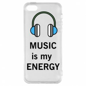 Phone case for iPhone 5/5S/SE Music is my energy