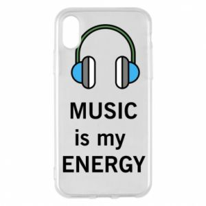 Phone case for iPhone X/Xs Music is my energy