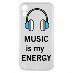 Phone case for iPhone XR Music is my energy