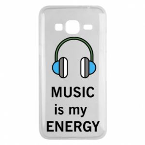 Phone case for Samsung J3 2016 Music is my energy