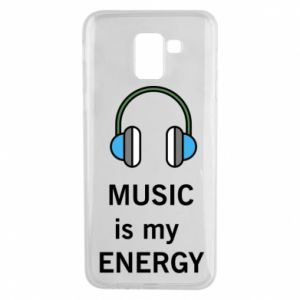 Phone case for Samsung J6 Music is my energy