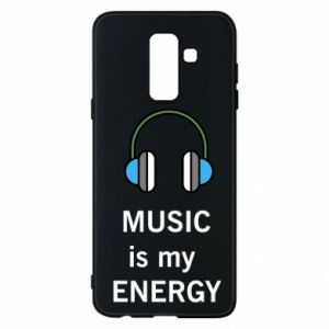 Phone case for Samsung A6+ 2018 Music is my energy
