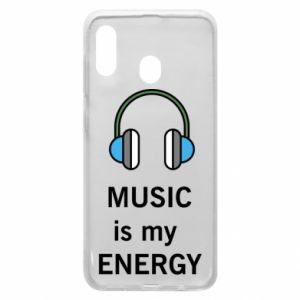 Phone case for Samsung A20 Music is my energy