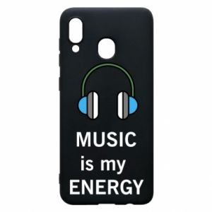 Phone case for Samsung A30 Music is my energy