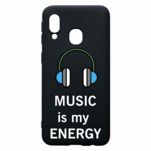 Phone case for Samsung A40 Music is my energy
