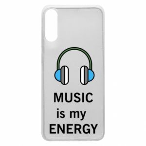Phone case for Samsung A70 Music is my energy