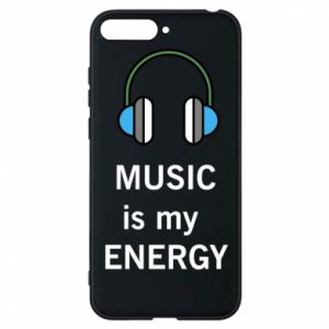Phone case for Huawei Y6 2018 Music is my energy