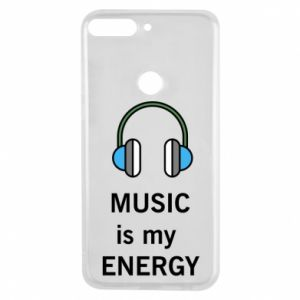 Phone case for Huawei Y7 Prime 2018 Music is my energy