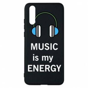 Phone case for Huawei P20 Music is my energy