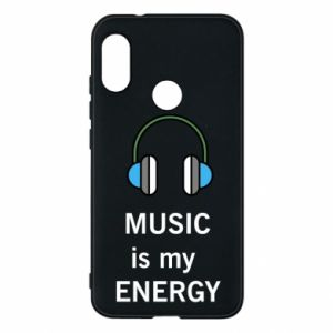 Phone case for Mi A2 Lite Music is my energy